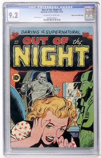 Out of the Night #2 Mile High pedigree (ACG, 1952) CGC NM- 9.2 Off-white to white pages