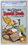 Golden Age (1938-1955):Funny Animal, Four Color #408 Donald Duck and the Golden Helmet (Dell, 1952) CGCVF/NM 9.0 Off-white to white pages....