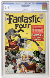 Fantastic Four #2 (Marvel, 1962) CGC NM- 9.2 Off-white to white pages