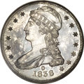 Proof Reeded Edge Half Dollars, 1838-O 50C PR63 Branch Mint PCGS. CAC....