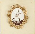 Baseball Cards:Singles (Pre-1930), 1915 PM1 Ornate Frame Pins Al Demaree. He shared a pitchingrotation with Mathewson, Marquard, Rixey and Alexander during h...