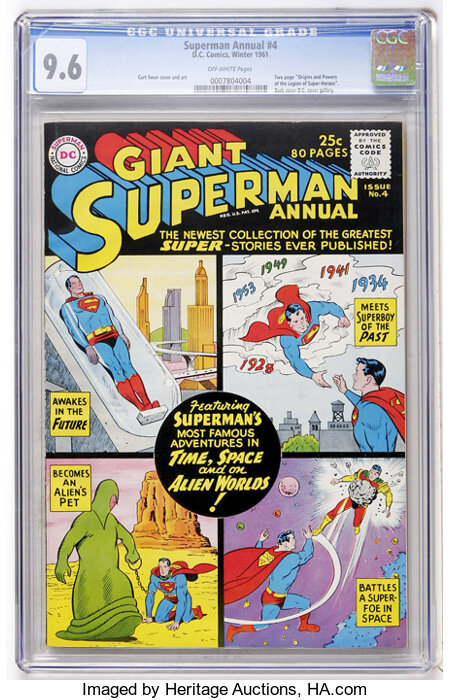 Superman Annual #4 (DC, 1961) CGC NM+ 9.6 Off-white pages....