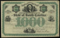 Miscellaneous:Other, State of South Carolina $1000 Bond 18__. . ...