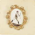 Baseball Cards:Singles (Pre-1930), 1915 PM1 Ornate Frame Pins Ty Cobb. The greatest name of the DeadBall era demonstrates the wide stance and grip that gave ...