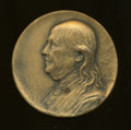 U.S. Presidents & Statesmen, Four-Inch Franklin-Saturday Evening Post BicentennialMedallion, AU Uncertified....