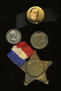 U.S. Presidents & Statesmen, Four Political Medals and Tokens, Washington to McKinley....(Total: 4 tokens)
