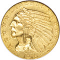 Indian Half Eagles, 1916-S $5 MS62 NGC....