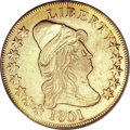 Early Eagles, 1801 $10 --Cleaned--ANACS. AU53 Details....