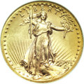 High Relief Double Eagles, 1907 $20 High Relief, Flat Rim AU58 ANACS....