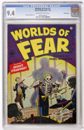 Golden Age (1938-1955):Horror, Worlds of Fear #7 Crowley Copy (Fawcett, 1952) CGC NM 9.4 Off-whiteto white pages....