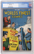 Golden Age (1938-1955):Superhero, World's Finest Comics #28 Crowley Copy (DC, 1947) CGC NM- 9.2 Cream to off-white pages....