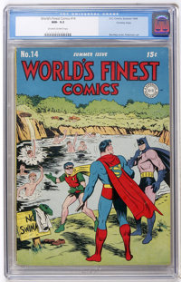 World's Finest Comics #14 Crowley Copy (DC, 1944) CGC NM- 9.2 Off-white to white pages