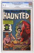 Golden Age (1938-1955):Horror, This Magazine Is Haunted #10 Crowley Copy (Fawcett, 1953) CGC NM-9.2 Cream to off-white pages....