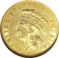 Three Dollar Gold Pieces, 1855 $3 MS63 NGC....