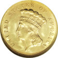 Three Dollar Gold Pieces, 1878 $3 MS64 NGC....