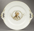 Political:3D & Other Display (pre-1896), George Washington: 1876 Centennial Portrait Plate....