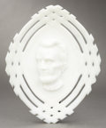 Political:3D & Other Display (pre-1896), Abraham Lincoln: Milk Glass Souvenir Dish...