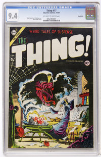 The Thing! #17 Northford pedigree (Charlton, 1954) CGC NM 9.4 Off-white to white pages