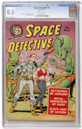 Golden Age (1938-1955):Science Fiction, Space Detective #2 (Avon, 1951) CGC VF+ 8.5 Off-white pages....