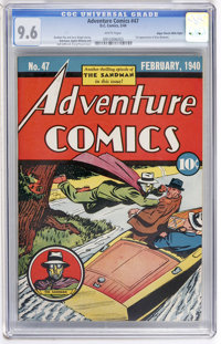 Adventure Comics #47 Mile High pedigree (DC, 1940) CGC NM+ 9.6 White pages