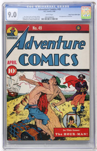 Adventure Comics #49 Mile High pedigree (DC, 1940) CGC VF/NM 9.0 White pages
