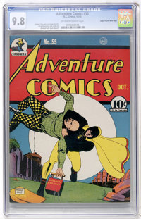 Adventure Comics #55 Mile High pedigree (DC, 1940) CGC NM/MT 9.8 Off-white to white pages