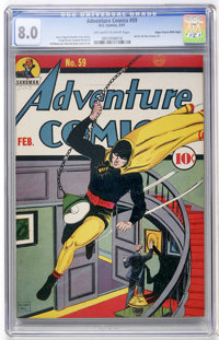 Adventure Comics #59 Mile High pedigree (DC, 1941) CGC VF 8.0 Off-white to white pages