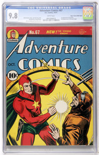 Adventure Comics #67 Mile High pedigree (DC, 1941) CGC NM/MT 9.8 White pages