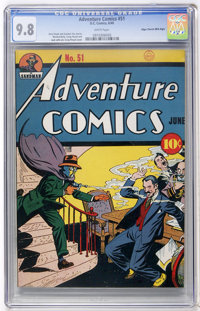 Adventure Comics #51 Mile High pedigree (DC, 1940) CGC NM/MT 9.8 White pages