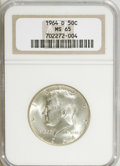 Kennedy Half Dollars: , 1964-D 50C MS65 NGC. . NGC Census: (146/101). PCGS Population(486/410). Mintage: 156,205,440. Numismedia Wsl. Price for NG...