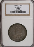 Bust Half Dollars, 1824/1 50C Overdate VF35 NGC. O-101a. NGC Census: (2/62). PCGSPopulation (6/81). Numismedia Wsl. Price for NGC/PCGS coin...
