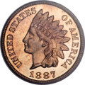 Proof Indian Cents, 1887 1C PR65 Red PCGS....