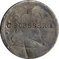 Counterstamps, 1856 & 1857 Counterstamped Seated Quarters.... (Total: 2 coins)