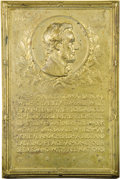 U.S. Presidents & Statesmen, Bronze Lincoln Plaquette of Second Inaugural Address....