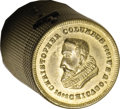 Expositions and Fairs, 1892-93 Simulated Brass Case For 2 1/2 Dollar Gold Coins....
