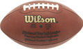 Football Collectibles:Uniforms, 2006 NFC Championship Seattle Seahawks vs. Carolina Panthers Game Used Football. Seattle's Qwest Field was the site of the ...