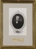 Political:Miscellaneous Political, Stephen A. Douglas: Autograph and Print. ...
