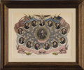 Political:Small Paper (pre-1896), Franklin Pierce: Hand-Colored Magnus Print...
