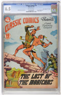 """Golden Age (1938-1955):Classics Illustrated, Classic Comics #4 Last of the Mohicans - First Edition - Davis Crippen (""""D"""" Copy) pedigree (Gilberton, 1942) CGC FN+ 6.5 Off-w..."""
