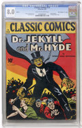 "Golden Age (1938-1955):Classics Illustrated, Classic Comics #13 Dr. Jekyll and Mr. Hyde - First Edition - DavisCrippen (""D"" Copy) pedigree (Gilberton, 1943) CGC VF 8.0 C..."