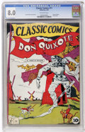Golden Age (1938-1955):Classics Illustrated, Classic Comics #11 Don Quixote - First Edition (Gilberton, 1943)CGC VF 8.0 Off-white pages....