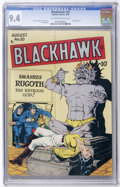 Golden Age (1938-1955):War, Blackhawk #20 (Quality, 1948) CGC NM 9.4 Off-white to whitepages....