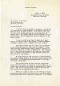 "Autographs:U.S. Presidents, Herbert Hoover Typed Letter Signed ""Herbert Hoover"", twopages, 7.25"" x 10.5"", personal letterhead, April 6, 1943, t..."