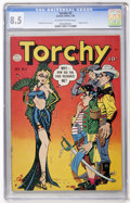 Golden Age (1938-1955):Humor, Torchy #5 (Quality, 1950) CGC VF+ 8.5 Off-white to white pages....