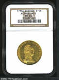 Austria: , Austria: Austrian Netherlands. Joseph II Gold Trade Souverain D'Or 1786A, Fr.306, KM-33, MS62 NGC. Lustrous with faint adjustment mar...