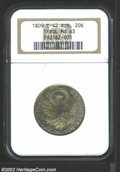 Austria: , Austria: Tyrol. 20 kreuzer 1809, Crowned eagle with head inwreath/Date and value, KM-149, MS63 NGC. Lightly toned with fullunderlyi...