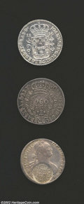 Brazil: , Brazil: 960 Reis Lot of Three including: 1816(B) KM307.1, struckover a colonial 8 reales, AU cleaned, 1818R KM326.1, toned EF+,als... (Total: 3 coins Item)