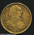 Chile: , Chile: Carlos IIII Gold 8 Escudos 1802JJ, KM54. VF, a few lightsurface marks. ...