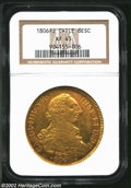 Chile: , Chile: Carlos IV Gold 8 Escudos 1806So-FJ, KM54, XF45 NGC, anattractive example with old-time toning and bold details. ...