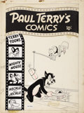 Original Comic Art:Covers, Paul Terry's Comics #101 Cover Original Art (St. John, 1953)....(Total: 2 Items)